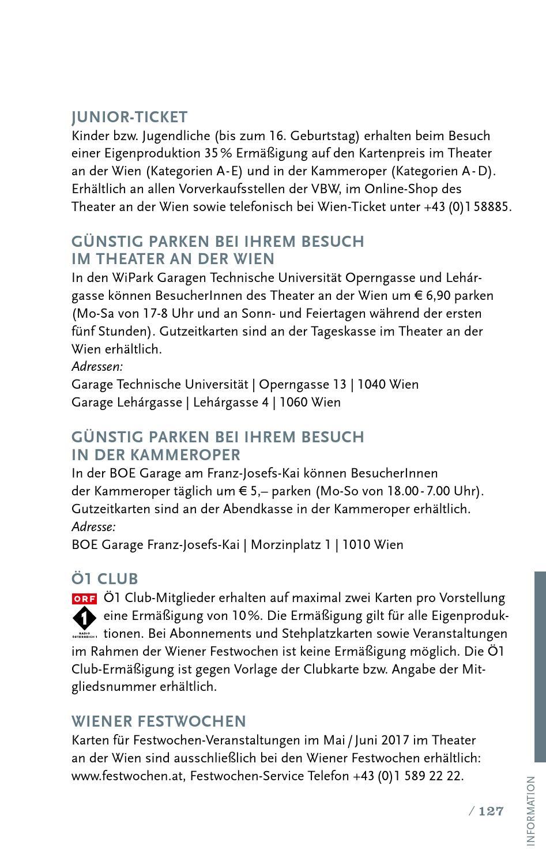 Saisonprogramm 2016/17 - Die Opernwelt by THEATER AN DER WIEN - issuu