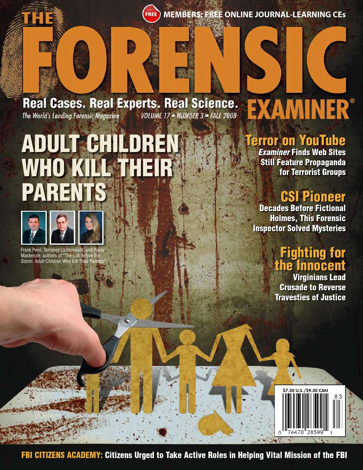 The Forensic Examiner Sample Fall 2008 By Cnta Inc Issuu