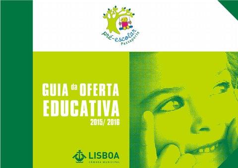 04d210563 Passaporte pré-escolar 2016 by Câmara Municipal de Lisboa - issuu
