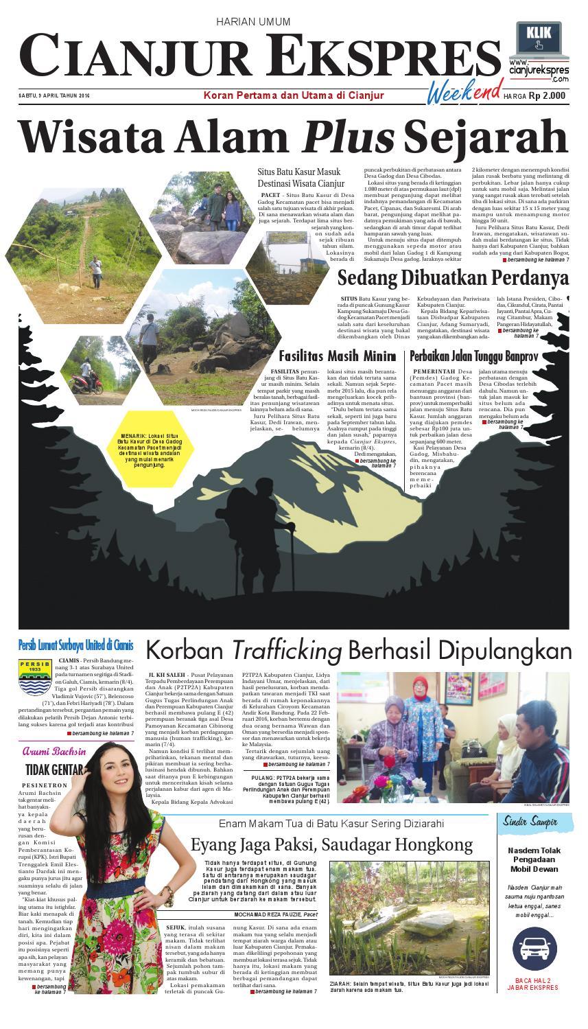 Cianjur Ekspres 9 April 2016 By Ricky Ari Issuu Kuliner Sambel Bawang Kering Khohar Bdg