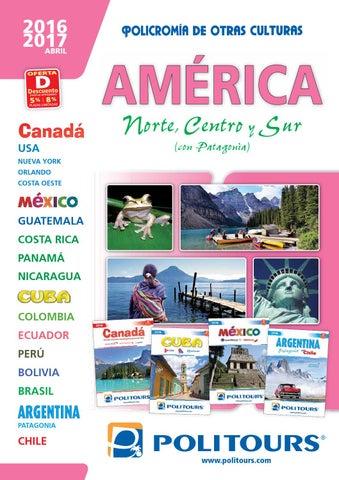 Catálogo politours america 2016