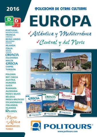 Catálogo politours europa 2016