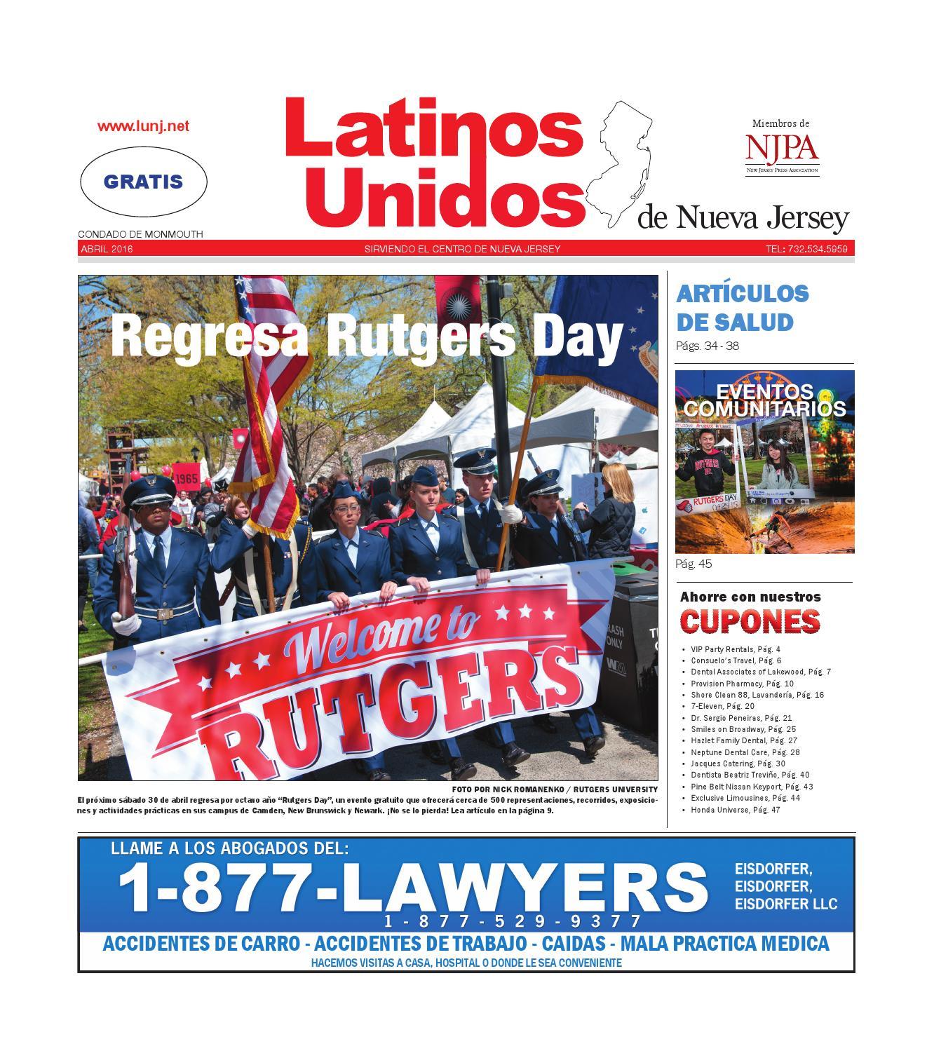 Monmouth April 2016 by Latinos Unidos de NJ - issuu