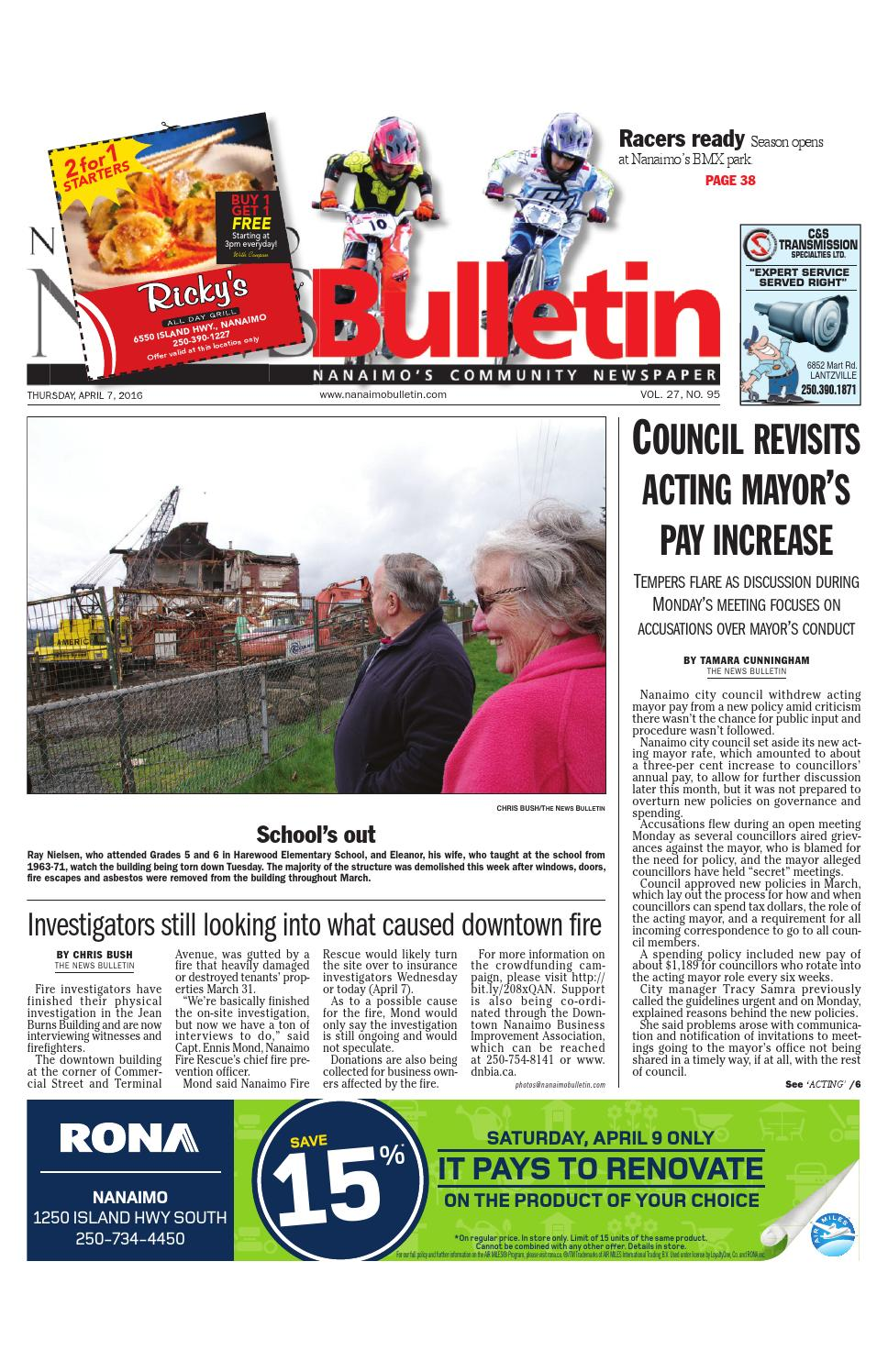 Bathmaster Nanaimo nanaimo news bulletin, april 07, 2016black press - issuu