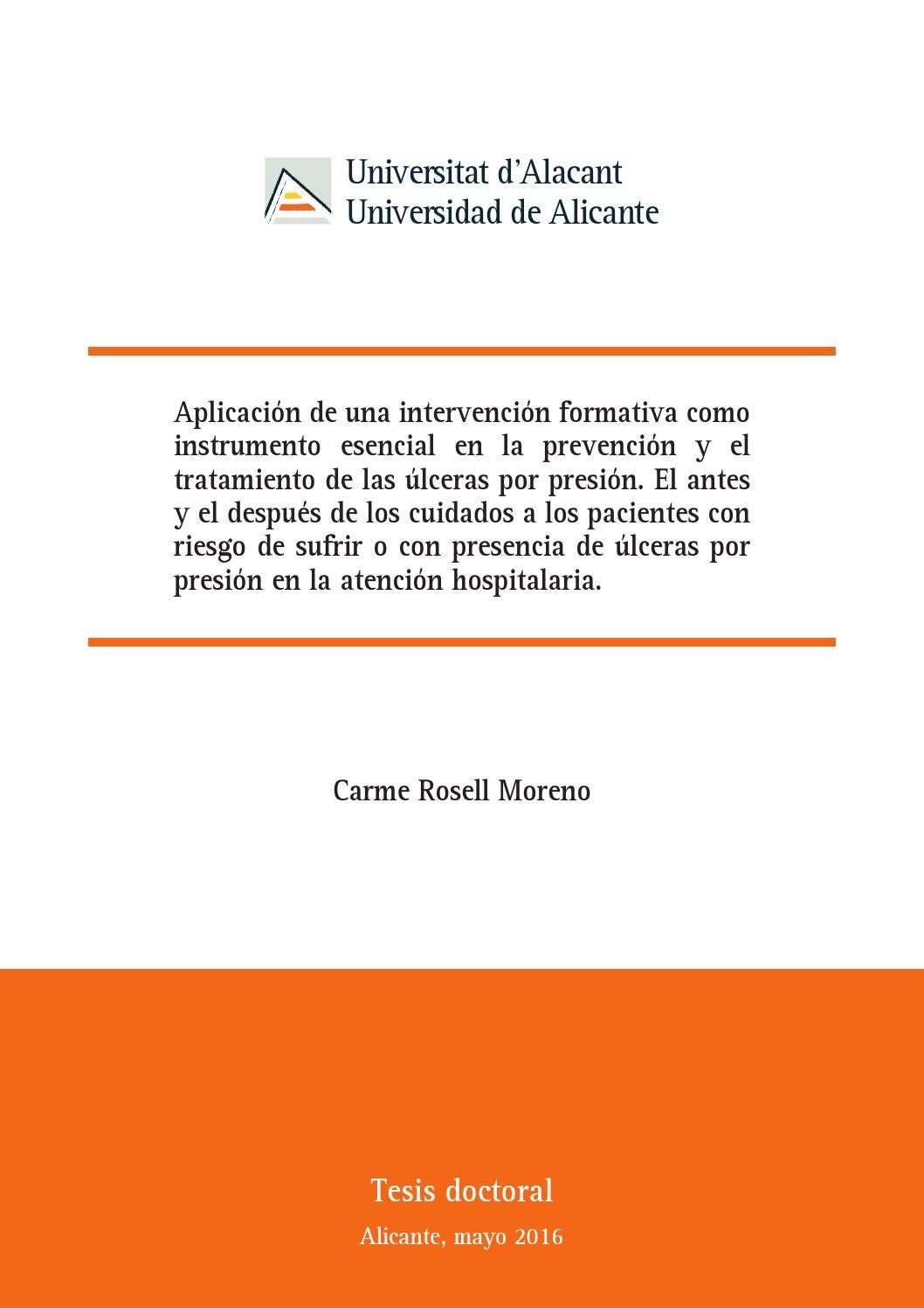 Tesis Doctoral - Carme Rosell by G.LL.R - issuu