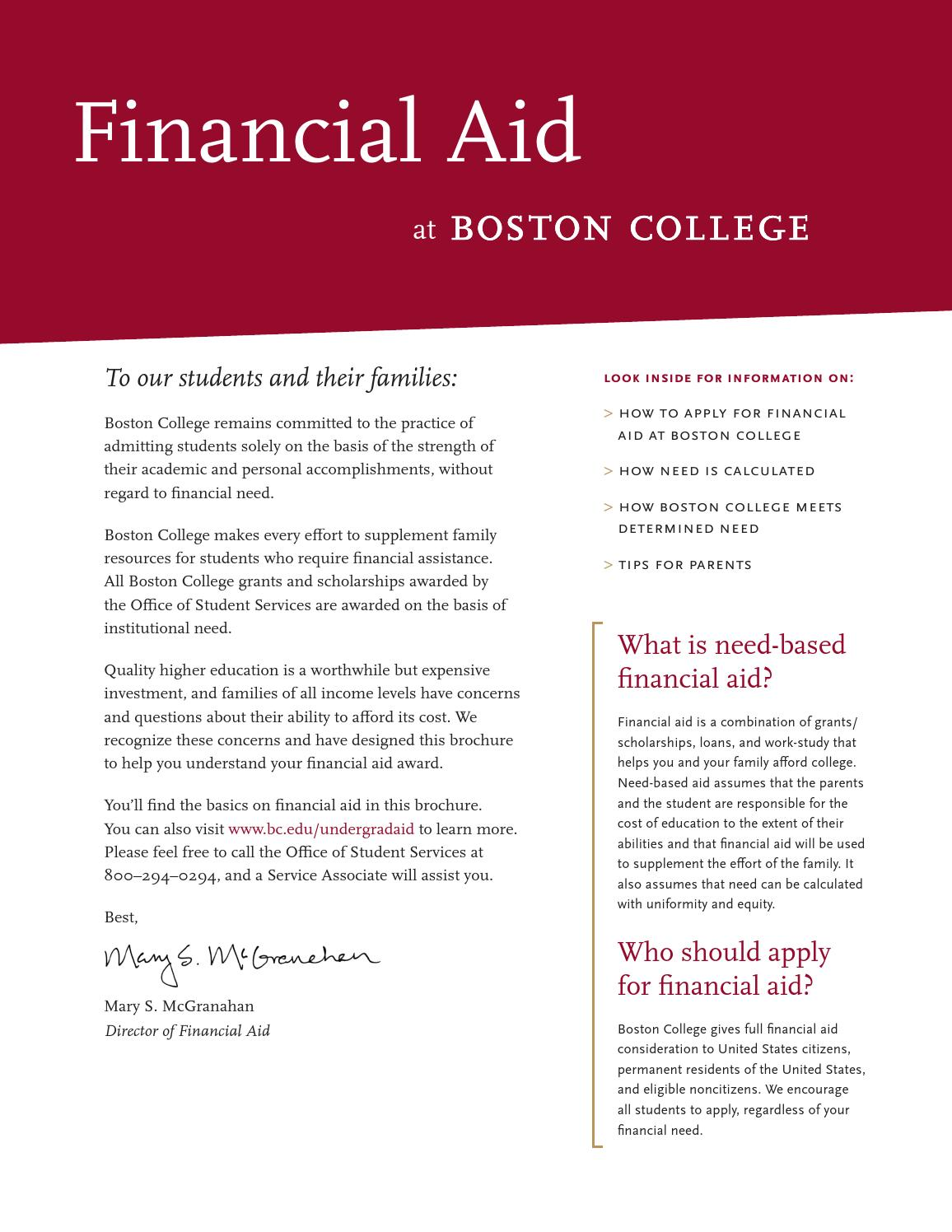 financial aid at boston college discover the heights financial aid at boston college
