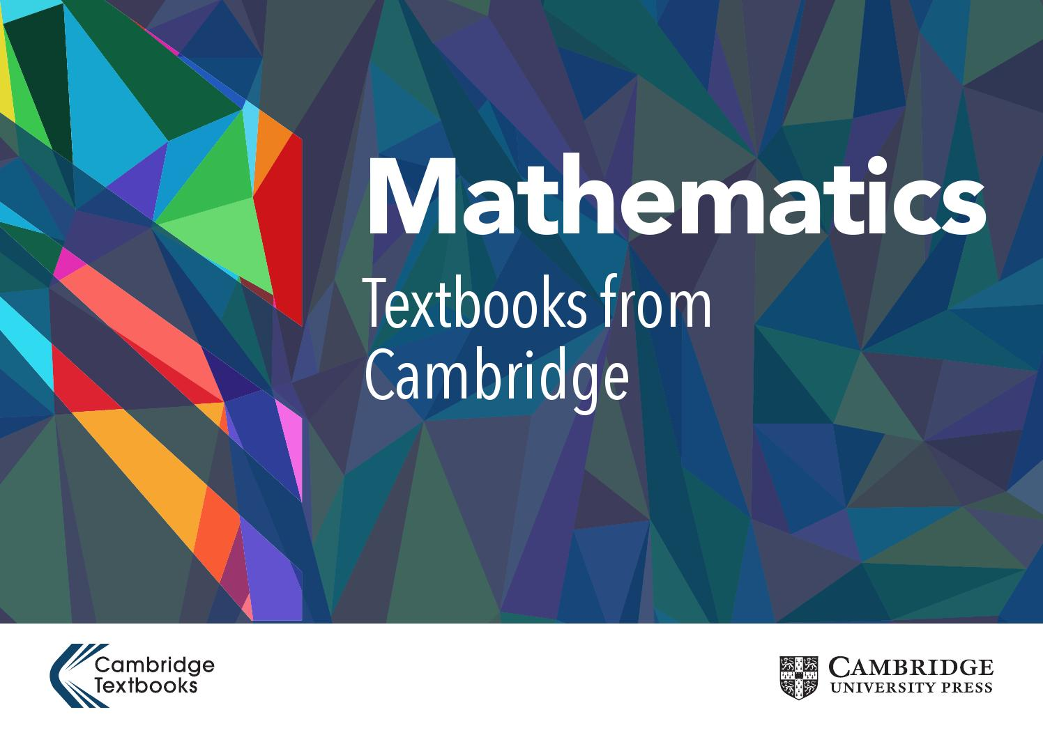 Mathematics Textbook Catalogue 2016 by Cambridge University Press ...