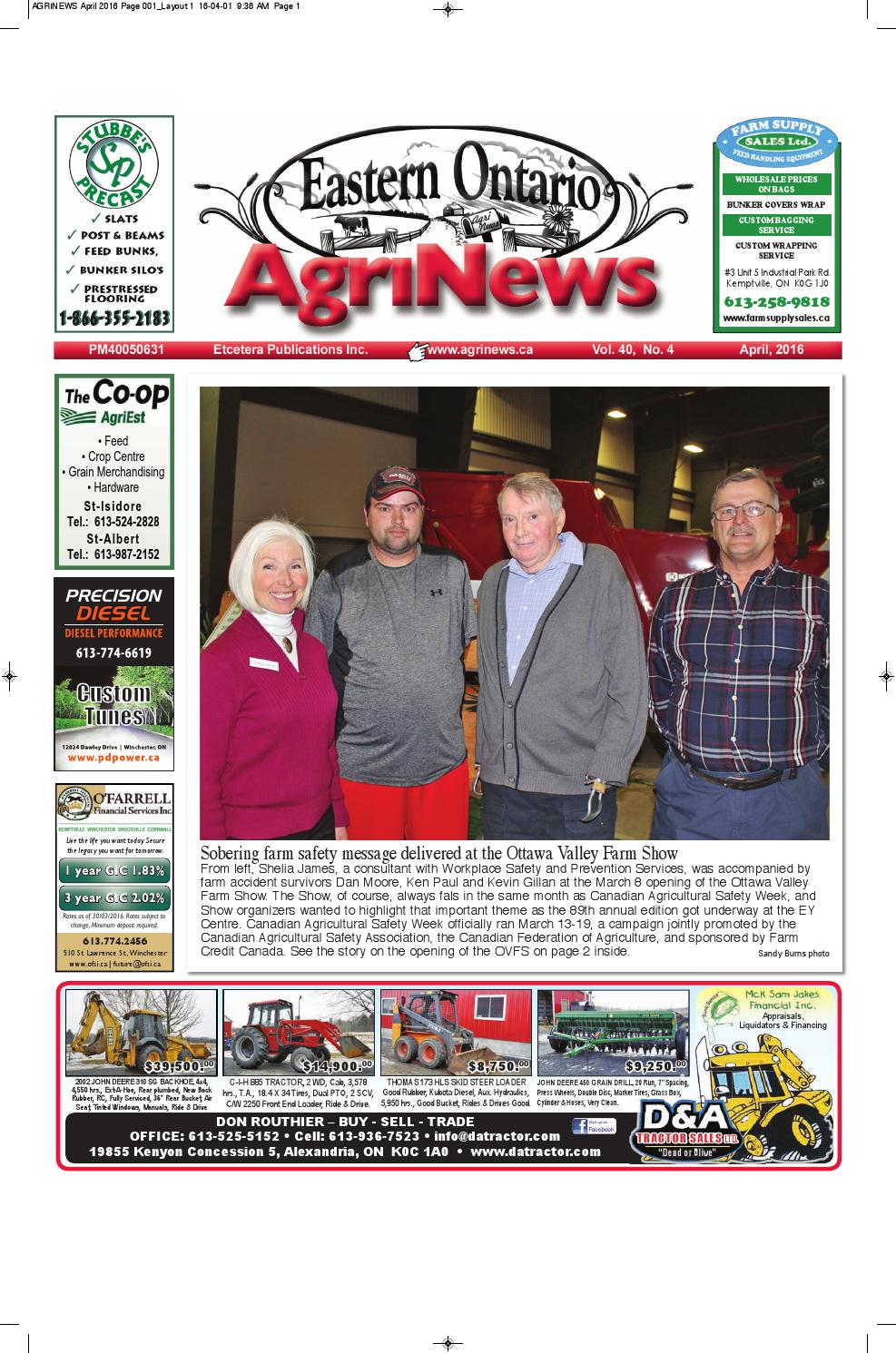 Agrinews April 2016 by Robin Morris issuu