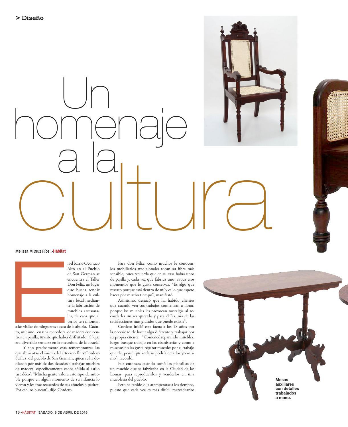 Revista Digital H Bitat 8 De Abril De 2016 By El Vocero De Puerto  # Muebles Con Pajilla