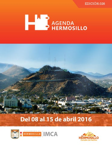 "Cover of ""Agenda Hermosillo de 08 al 15 de abril"""