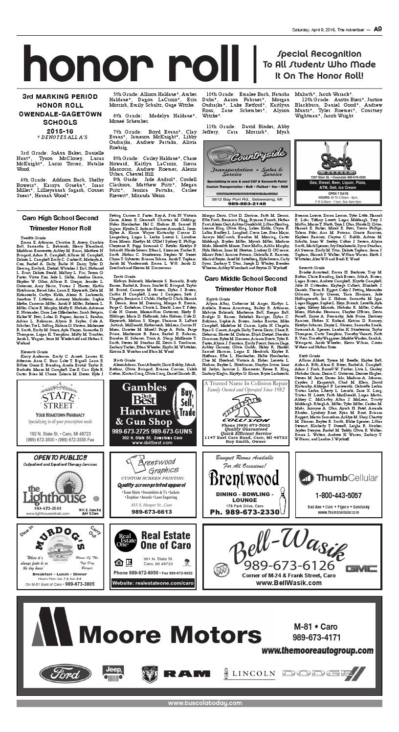 Tca 4 9 16 full edition by Tuscola County Advertiser - issuu