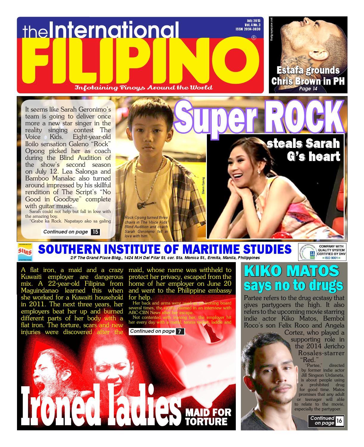 The International Filipino July 2015 by The International