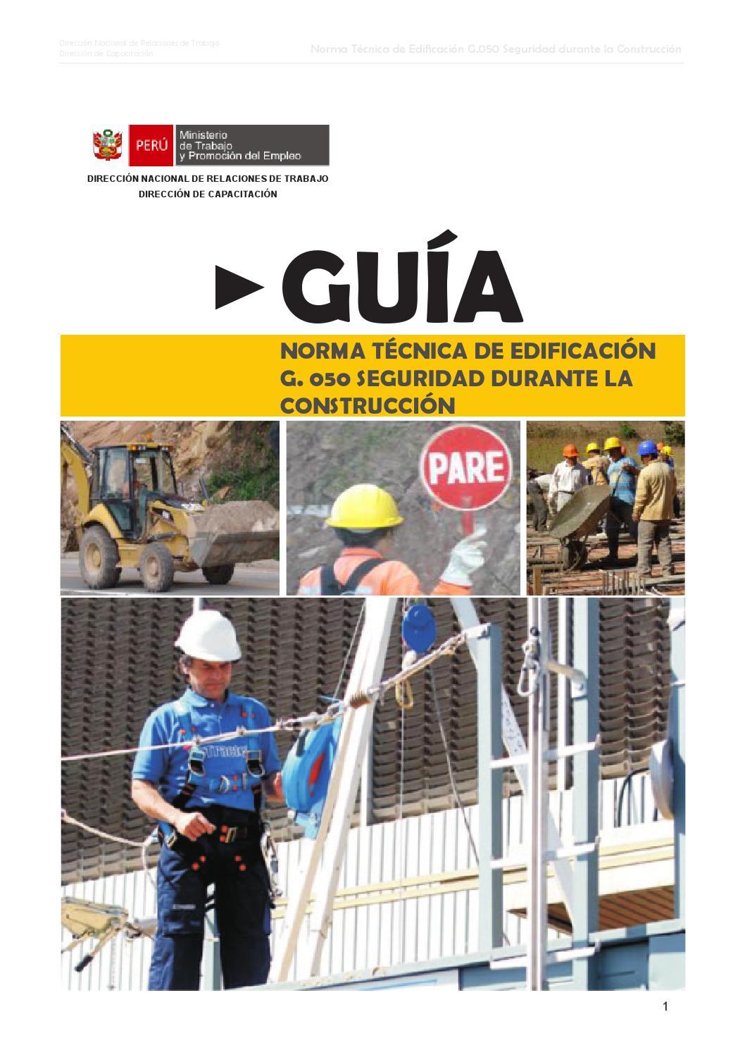 Norma G.050 Seguridad durante la Construcción - mtpe práctico by ...