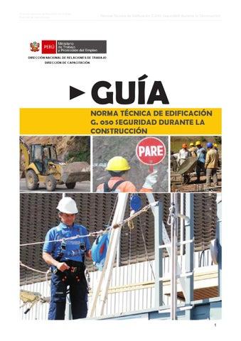 Norma G.050 Seguridad durante la Construcción - mtpe práctico by ... d18b5591009