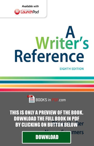 A Writer S Reference 8th Edition By Diana Hacker PDF Free By