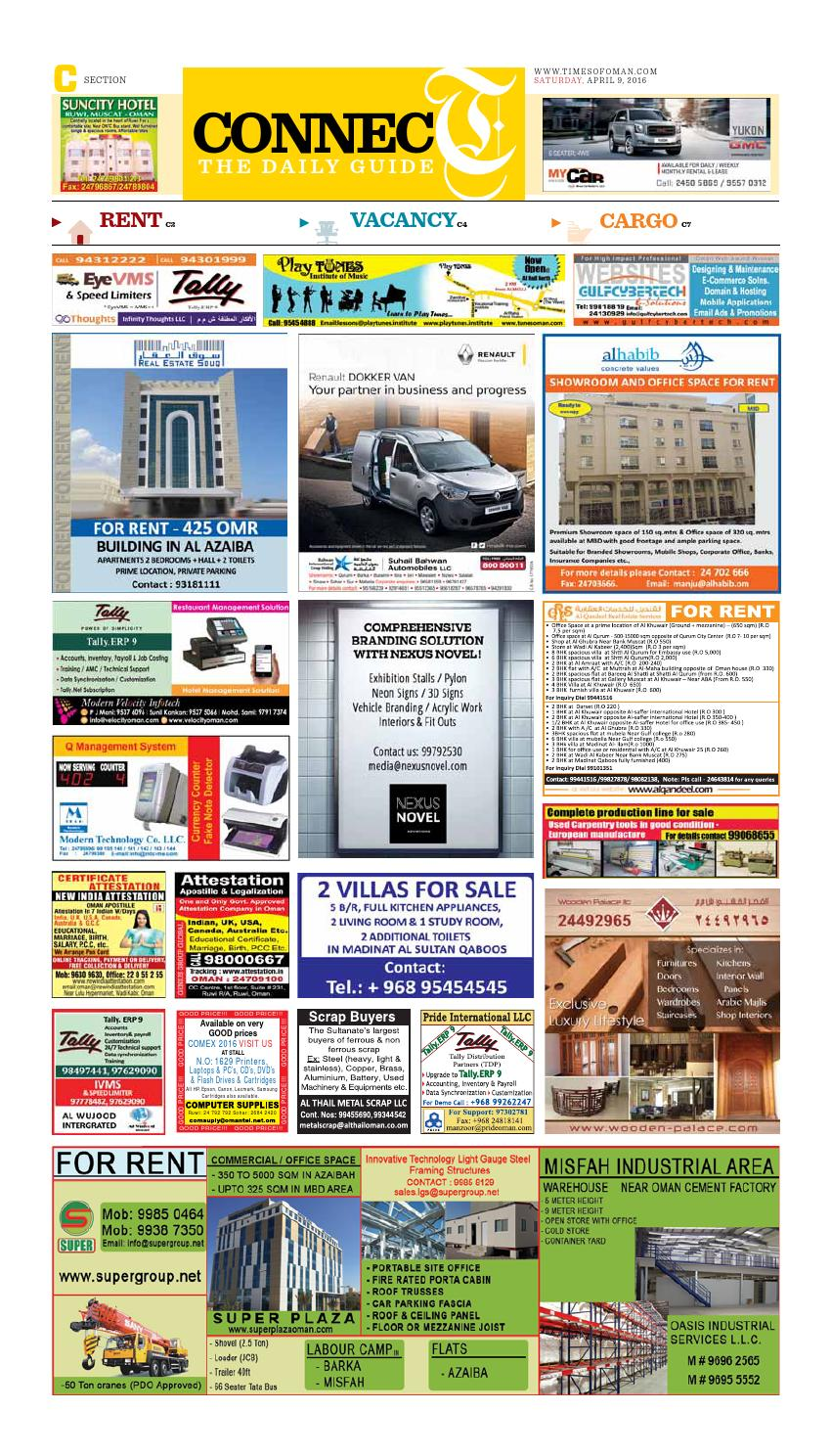 Times of Oman - April 9, 2016