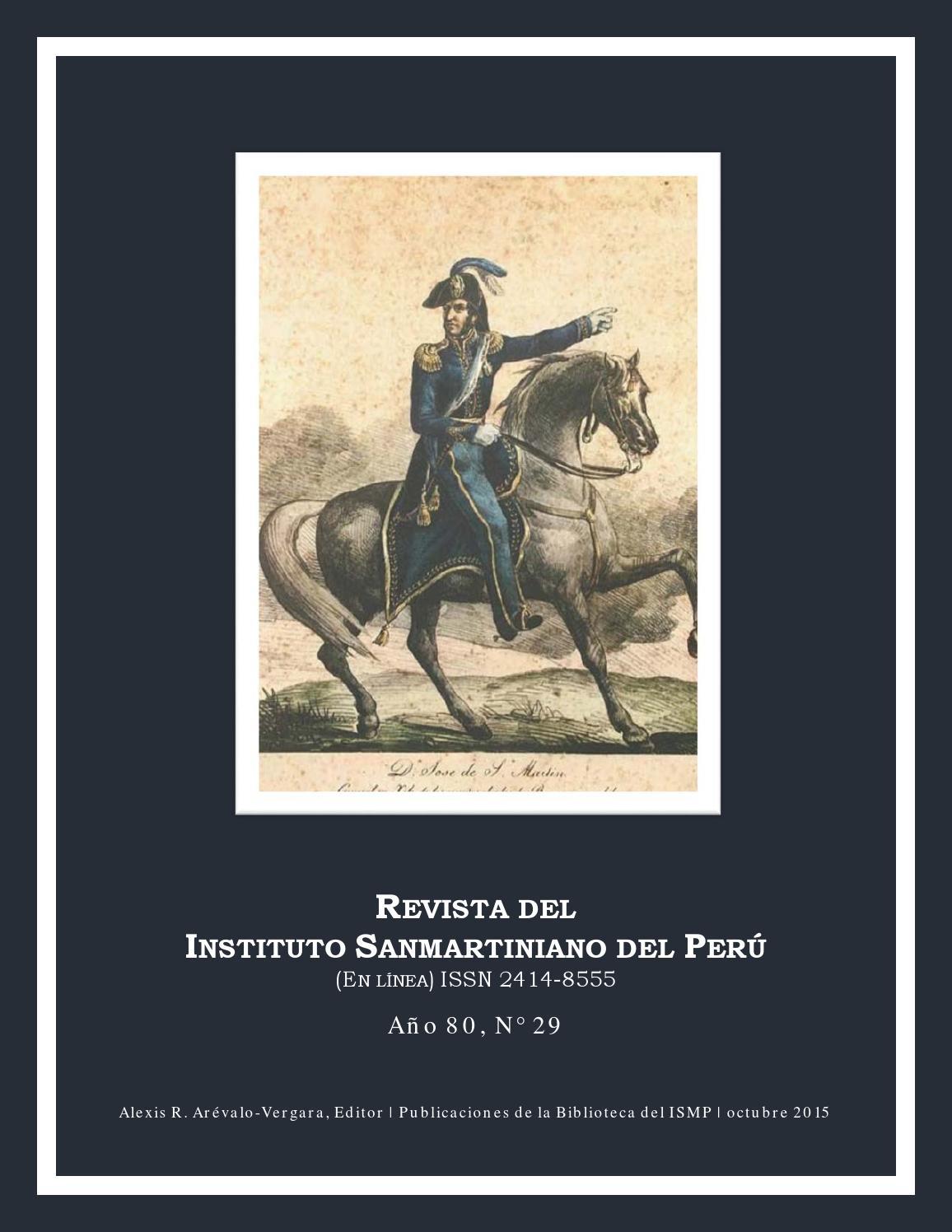 Revista del ISMP N° 29 by Biblioteca del Instituto Sanmartiniano del Perú -  issuu 043050a62ee