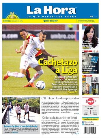 Edicion completa 10 abril by Diario La Hora Ecuador - issuu 27bafdcf0f955