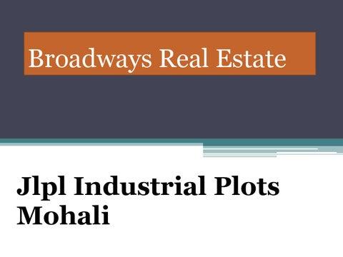 fd79fbd3e Jlpl Industrial Plot Mohali, Jlpl Industrial 1 Kanal Plot At Sector 82  Mohali