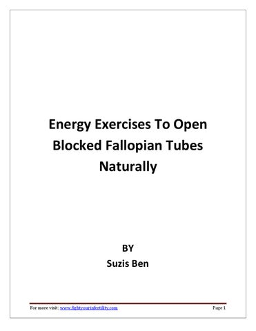 Energy exercises to open blocked fallopian tubes naturally
