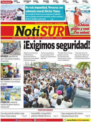 NotiSUR 11 de abril 2016 by Diario NotiSUR Coatzacoalcos 2015 339bfec416c40