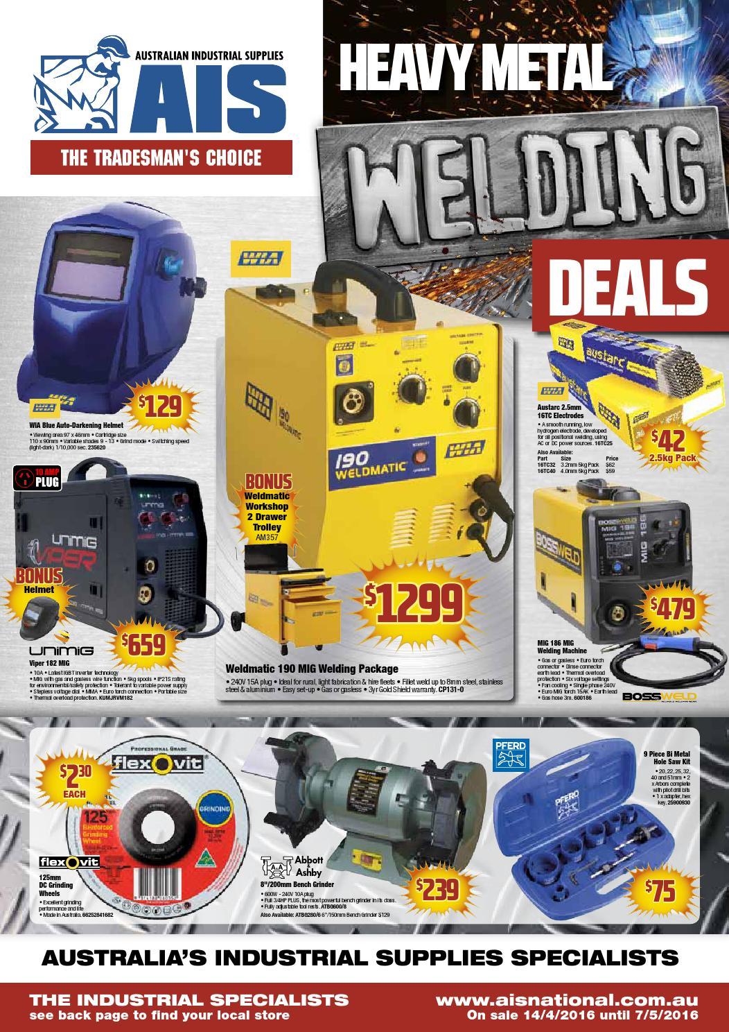 Australian Industrial Supplies Heavy Metal Welding Deals