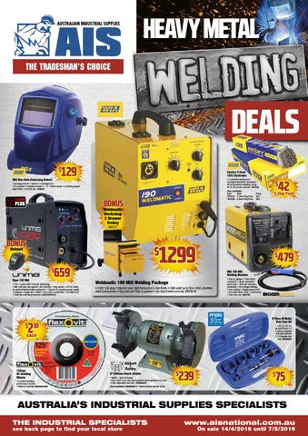 Australian Industrial Supplies Heavy Metal Welding Deals Flyer By