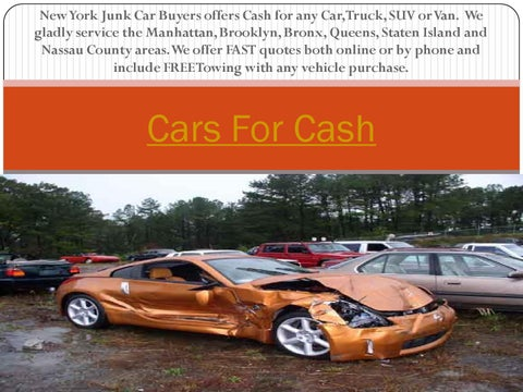 Cash For Junk Cars Online Quote Enchanting Cash For Junk Carssell Junk Cars  Issuu