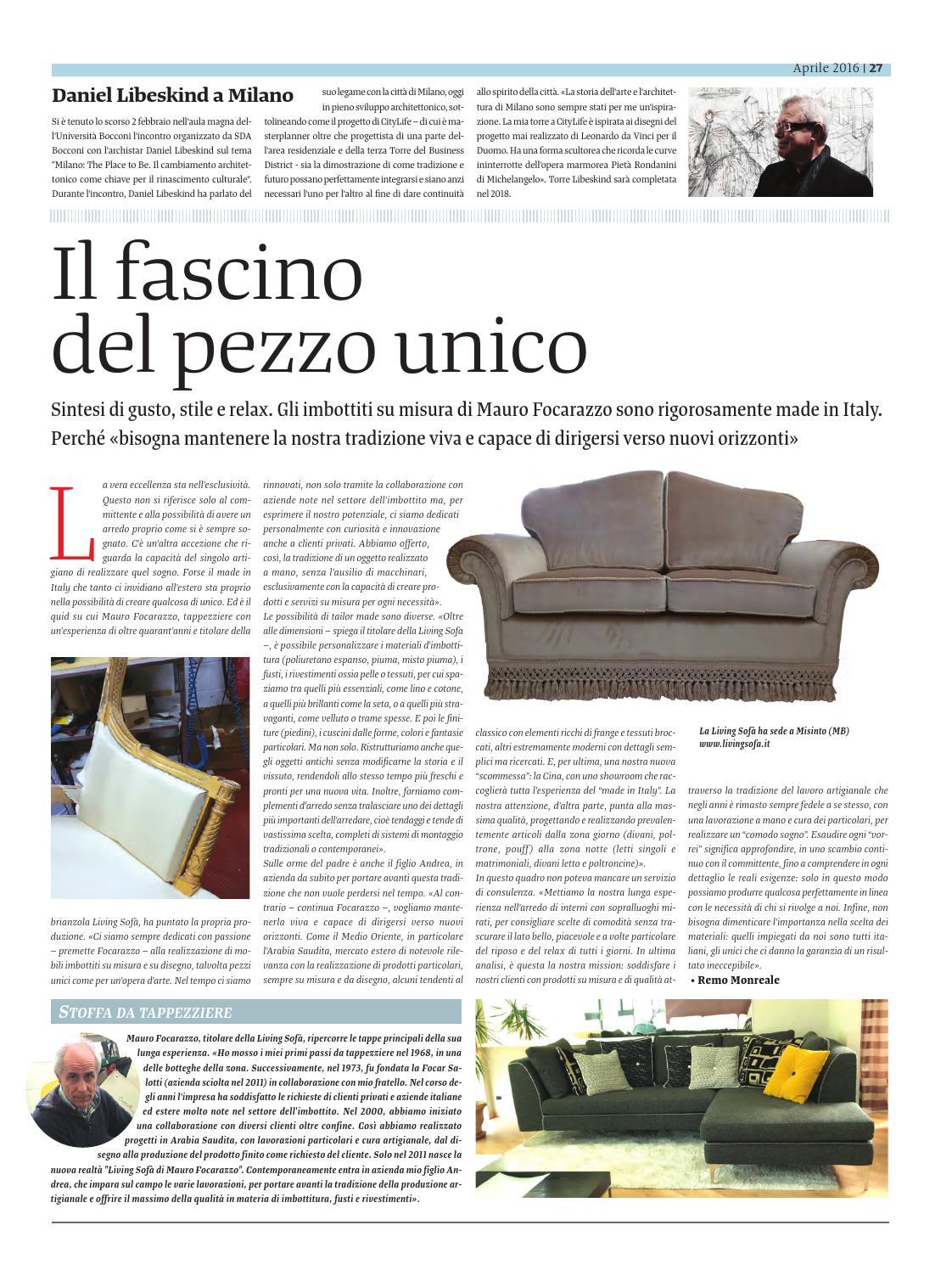 Focar Salotti Misinto.Interior Design Aprile 2016 By Golfarelli Editore