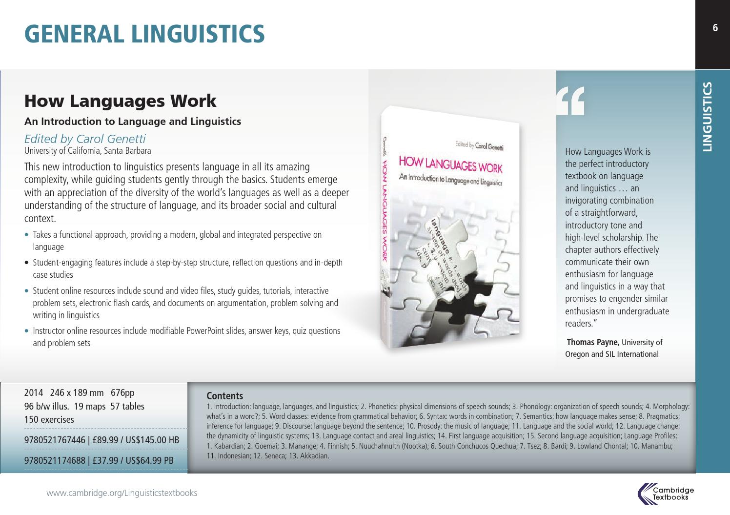 How Languages Work An Introduction to Language and Linguistics