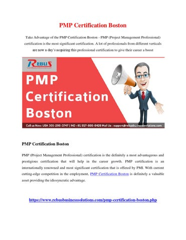 Pmp certification boston by vijayautony - issuu