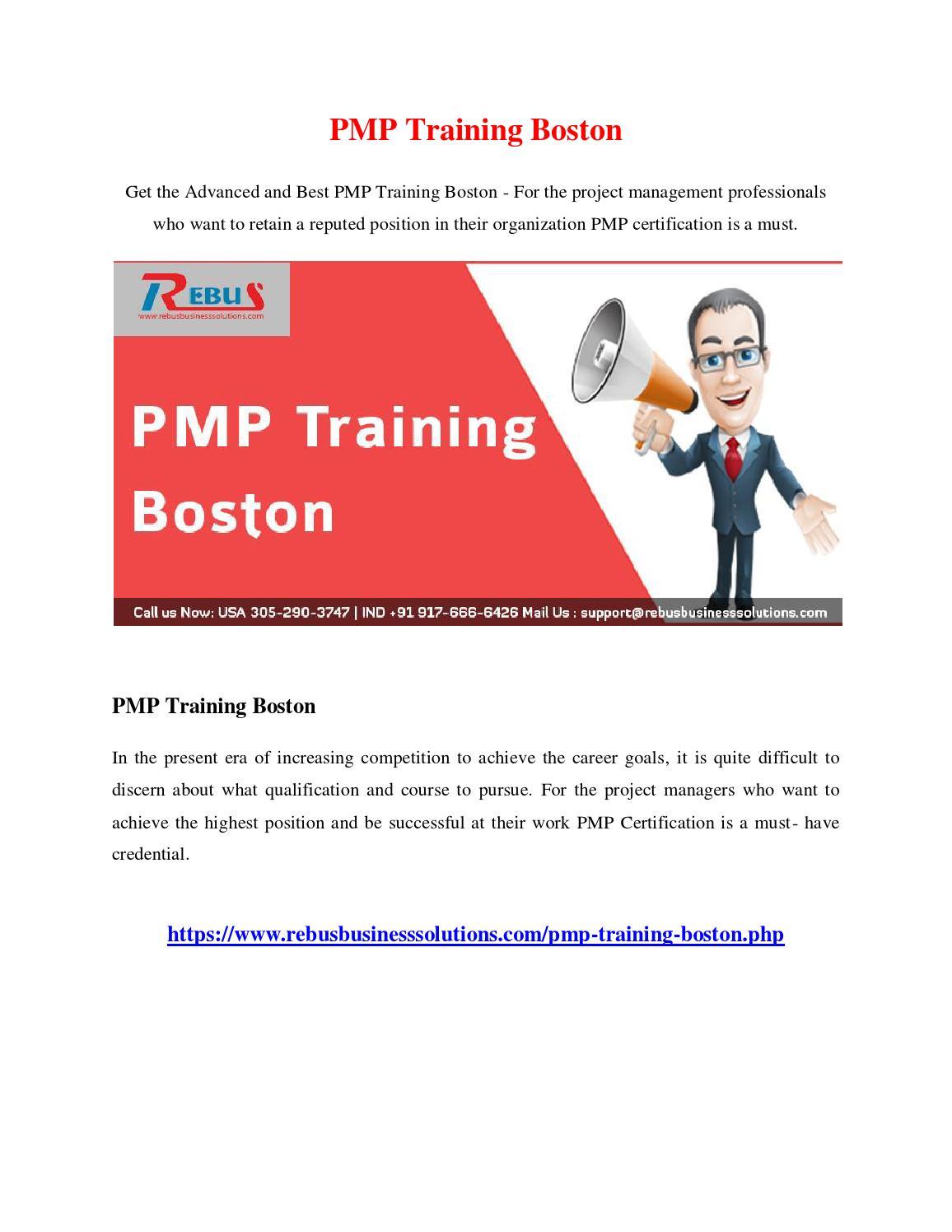 Pmp Training Boston By Vijayautony Issuu