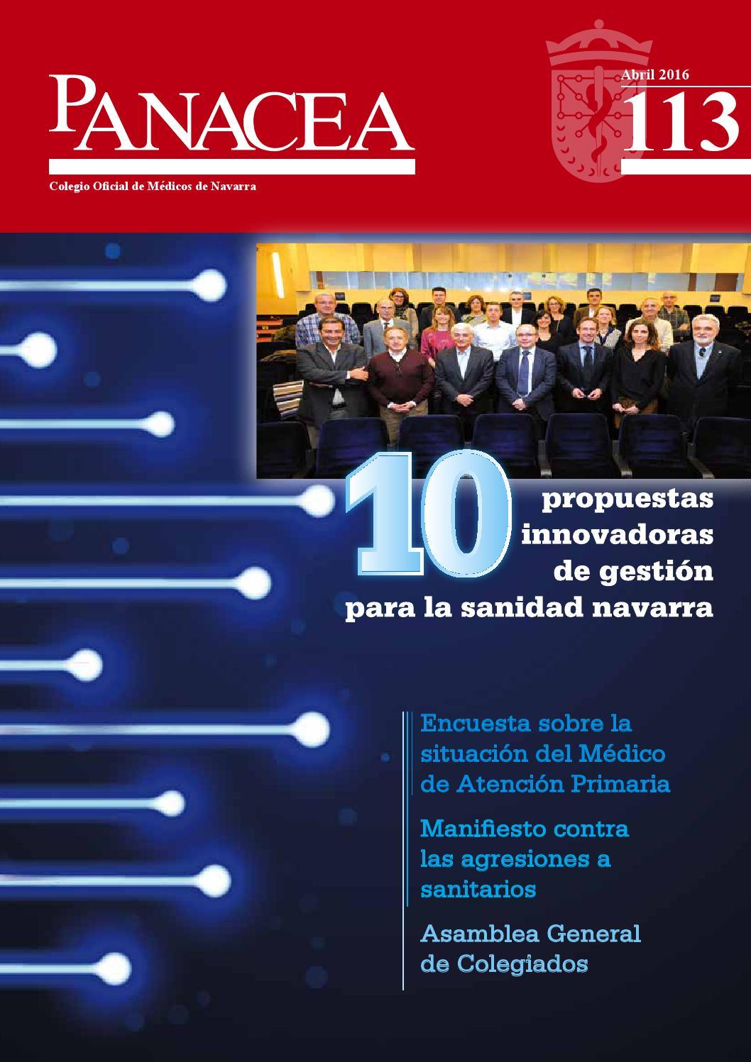 Panacea 113. Revista del Colegio de Médicos de Navarra. Abril 2016 ...