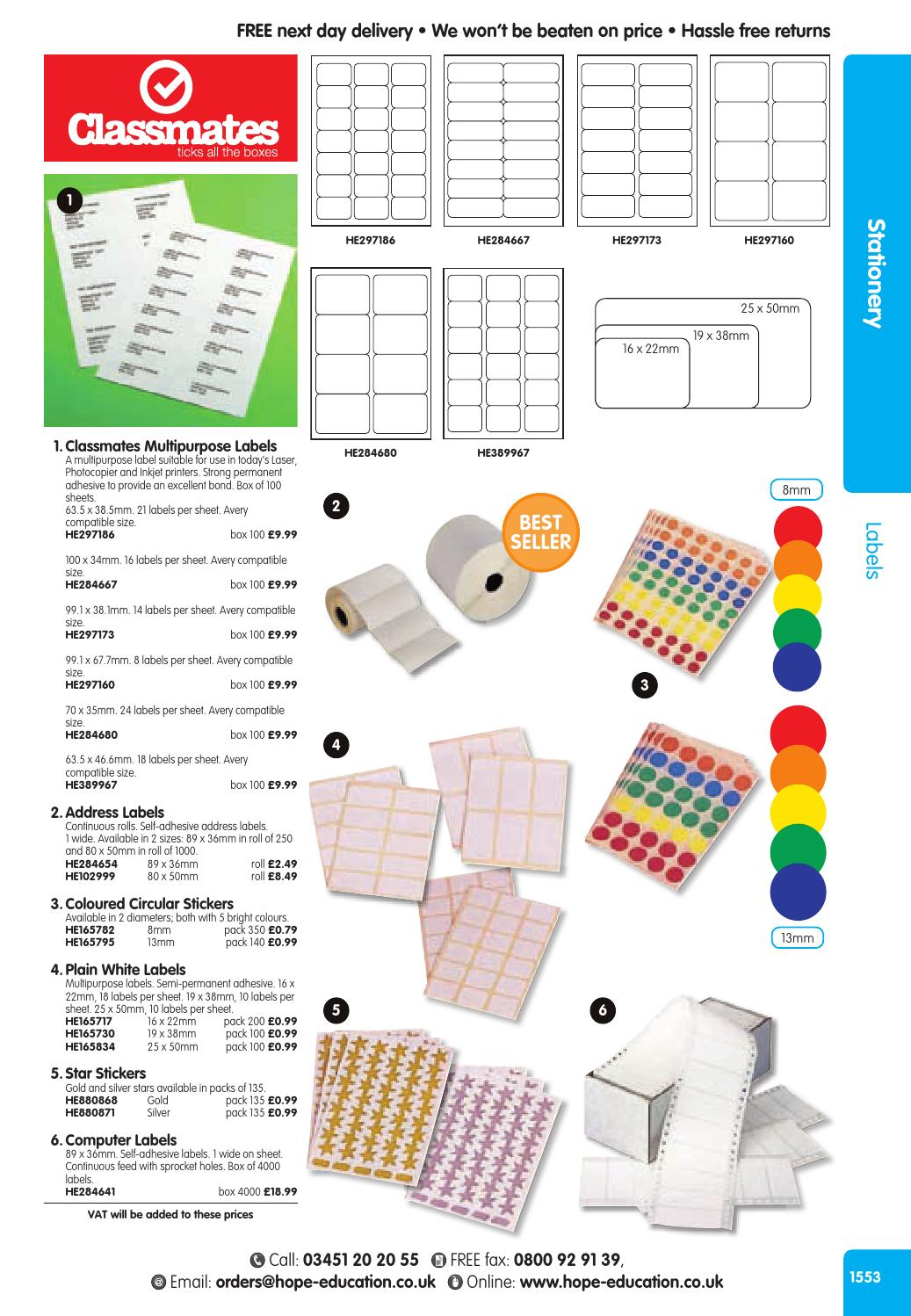 Hope Education Catalogue 2016/17 - Stationery by Findel Ltd