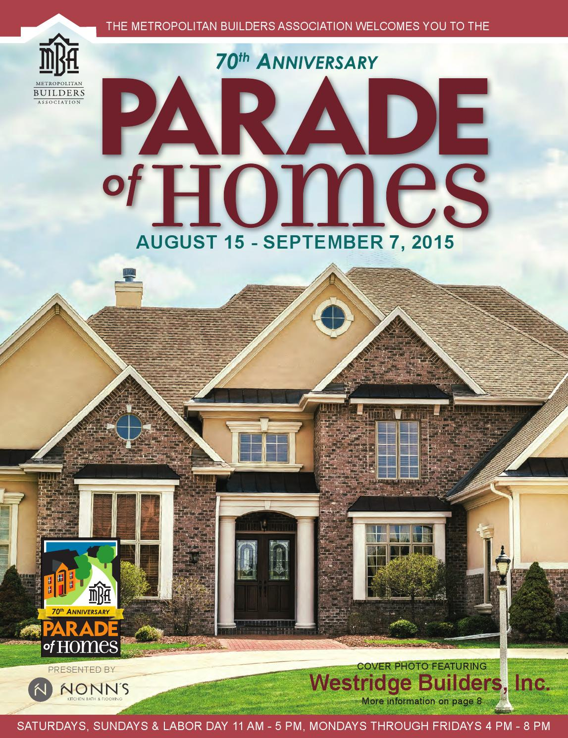 2015 mba parade of homes plan book by detour marketing issuu