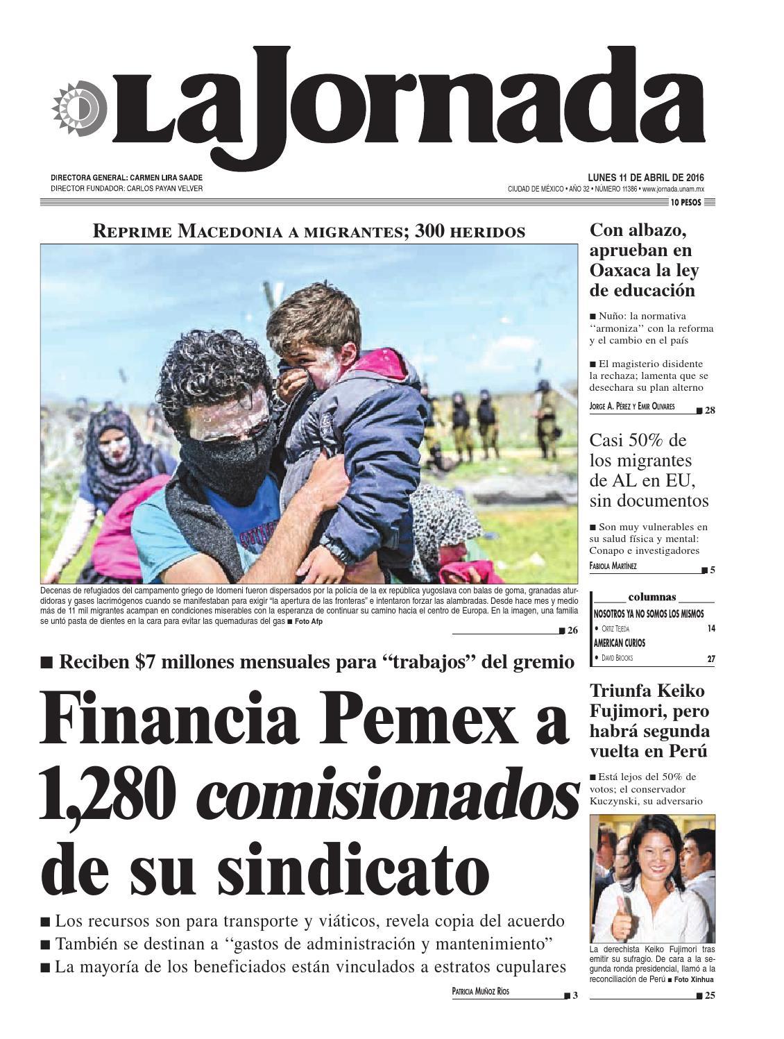 La Jornada, 04/11/2016 by La Jornada: DEMOS Desarrollo de Medios ...