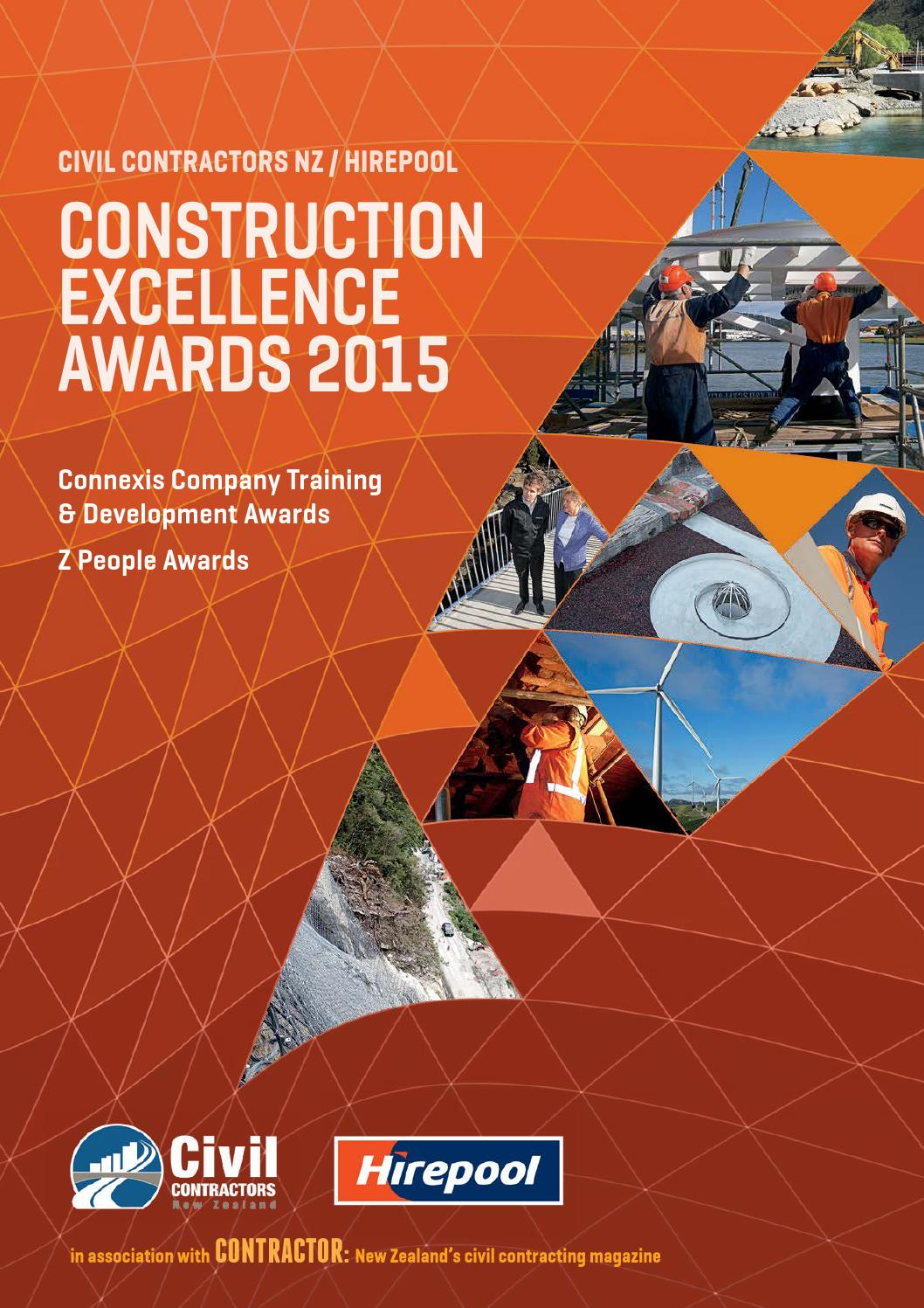 Contractor Construction Awards 2015 New Zealand By