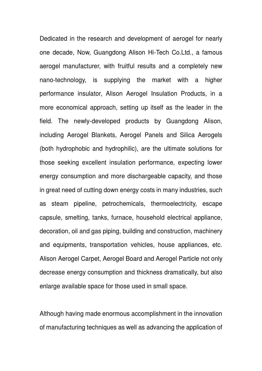 Alison aerogel by aerogel - issuu