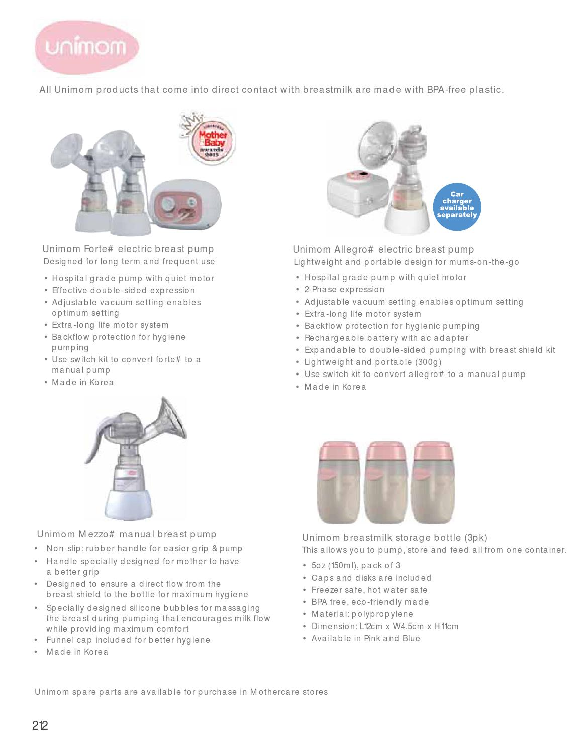Mothercare Singapore Catalogue 2016 2017 By Sg Issuu Unimom Allegro Electric Breast Pump