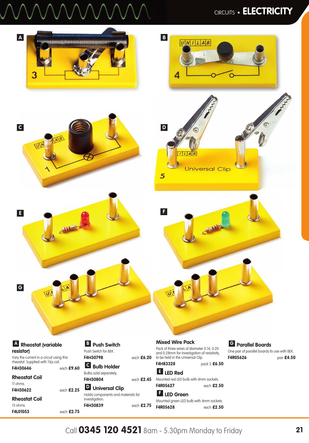 Unilab Catalogue 2016 17 By Findel Ltd Issuu Variable Resistors Can Also Be Used To Vary The Current In A Circuit