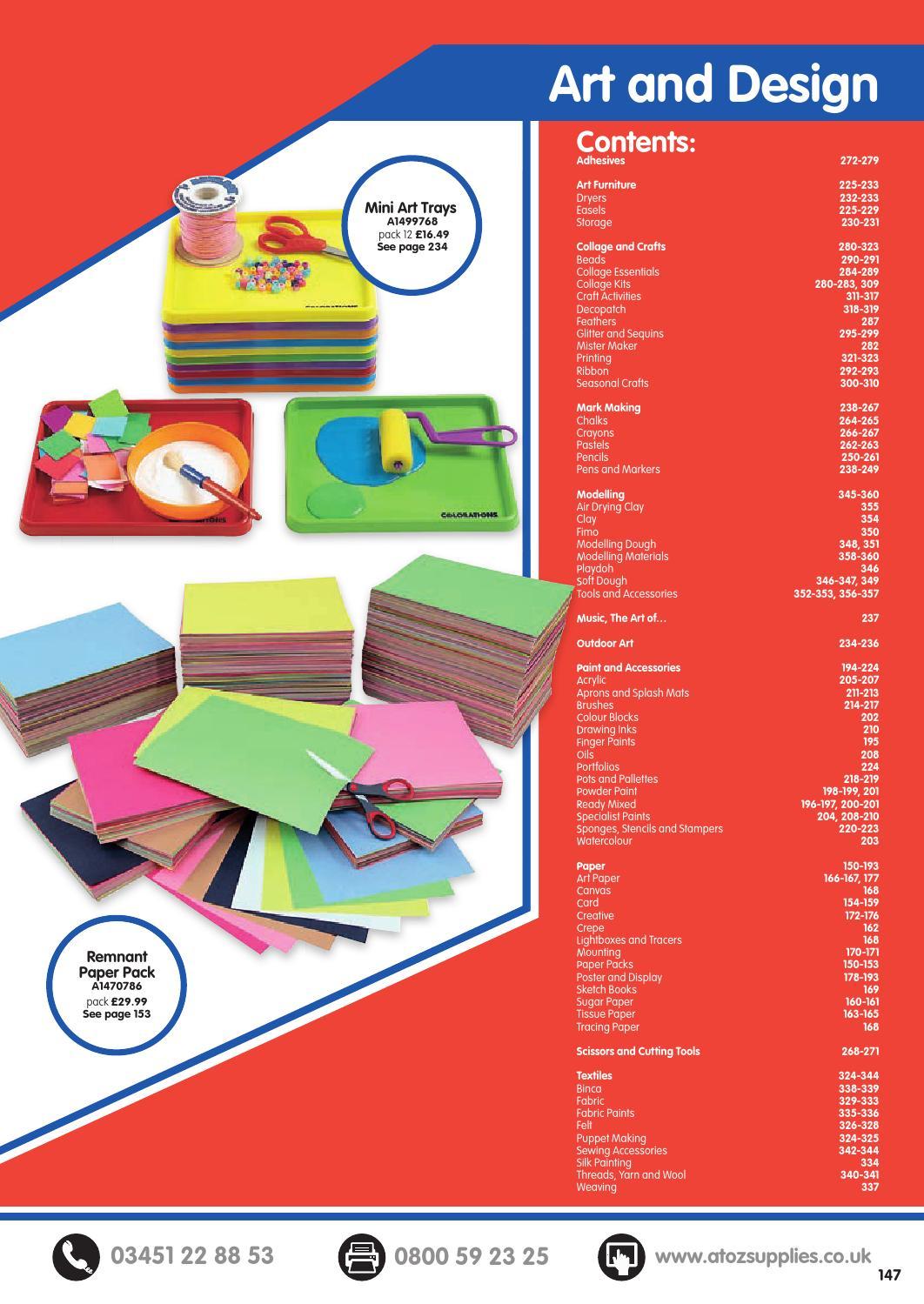 76a2703d2d2 AtoZ Catalogue 2016 17 - Art and Design by Findel Ltd - issuu