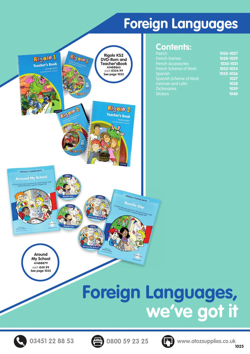 AtoZ Catalogue 2016/17 - Foreign Languages by Findel Ltd - issuu