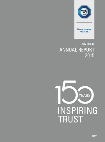 TÜV SÜD annual report 2015 by TÜV SÜD - issuu