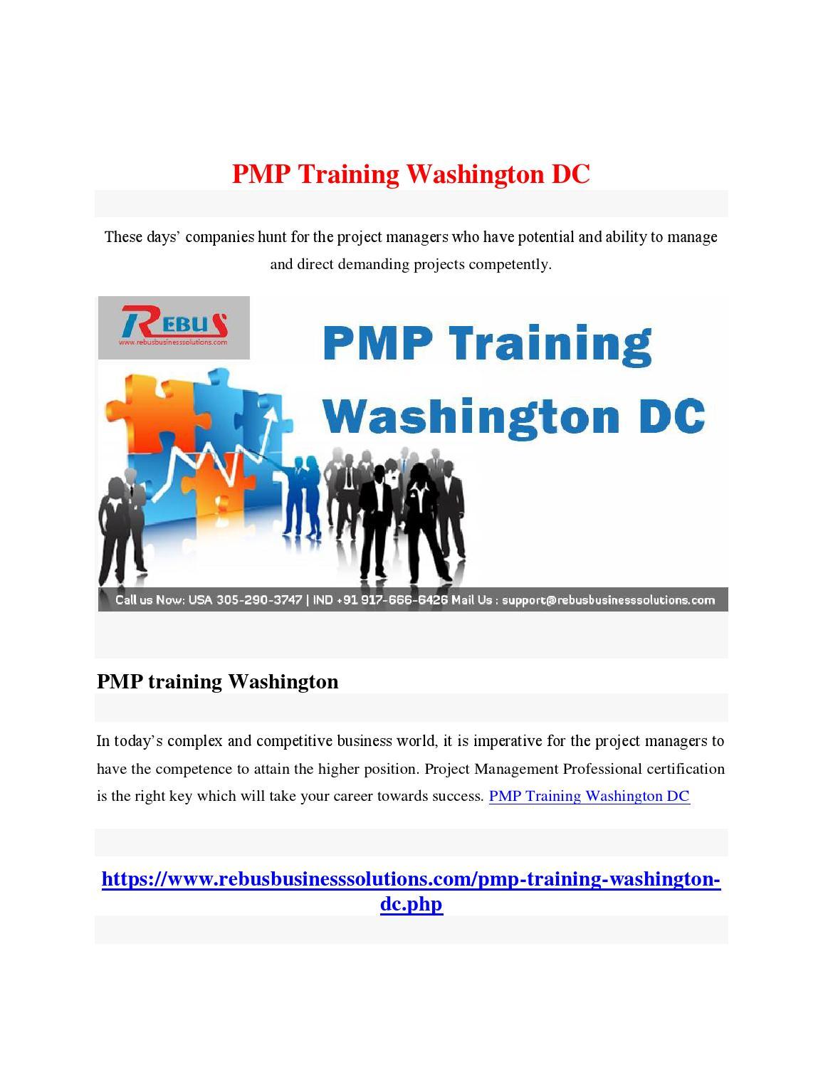 Pmp Training Washington Dc By Sanjanasan01 Issuu