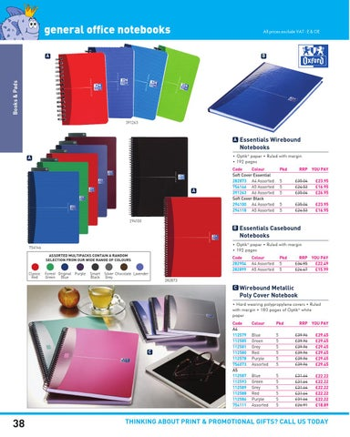 Page 38 General Office Notebooks