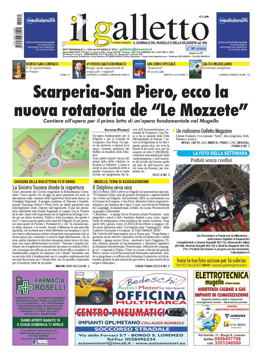 Galletto 1250 del 9 aprile 2016 by Il Galletto Giornale - issuu ff23814bd55