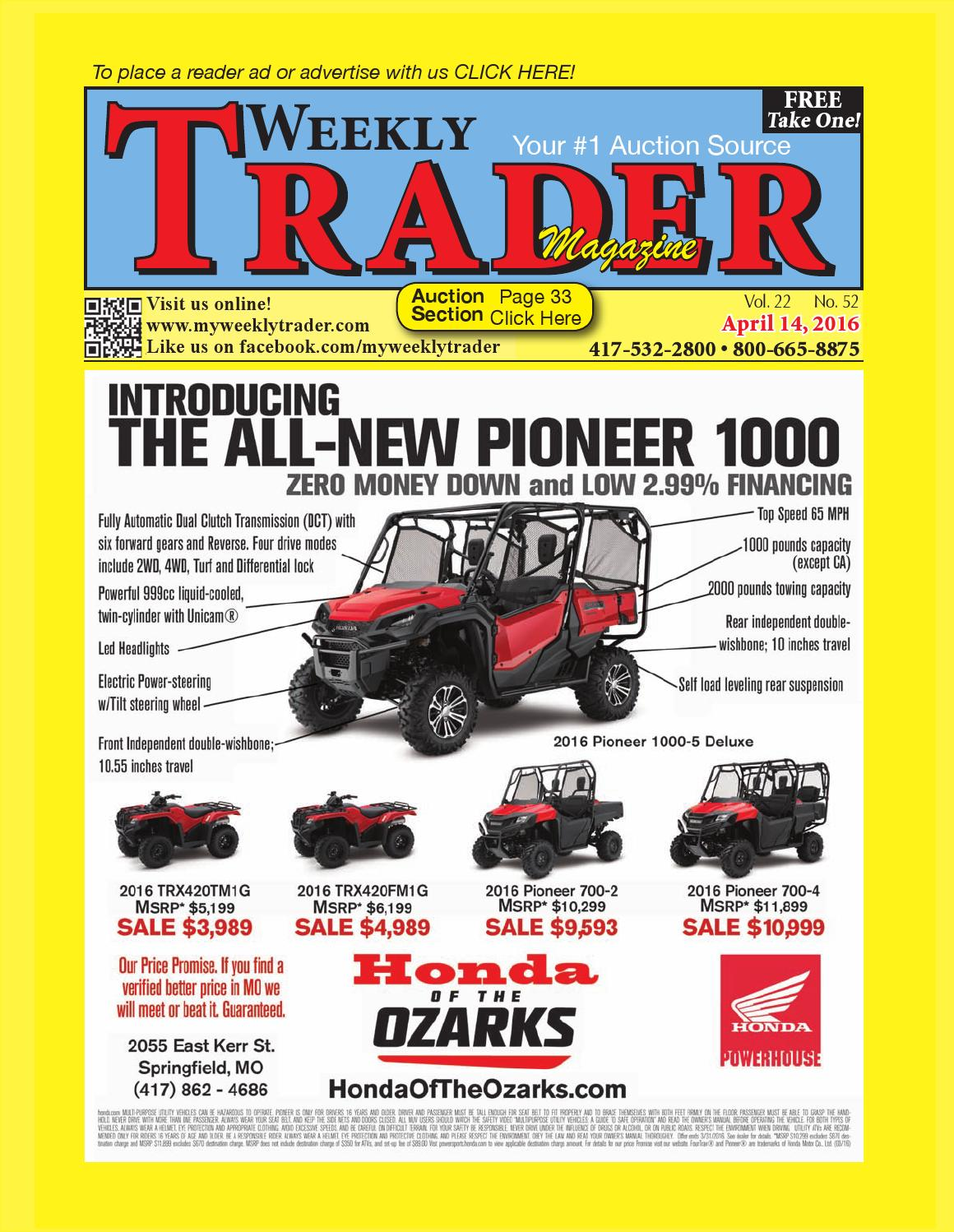Weekly Trader April 14 2016 By Issuu Bennche Fuse Box
