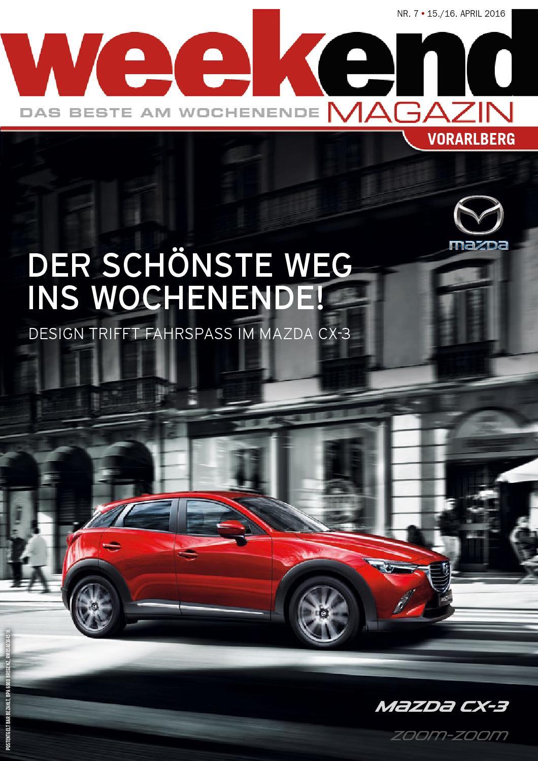 Weekend Magazin Vorarlberg 2016 KW 15 by Weekend Magazin