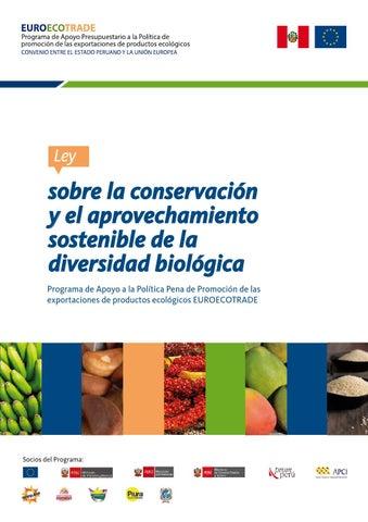 0fbcd996bdcc Ley sobre la conservación y el aprovechamiento sostenible de la ...