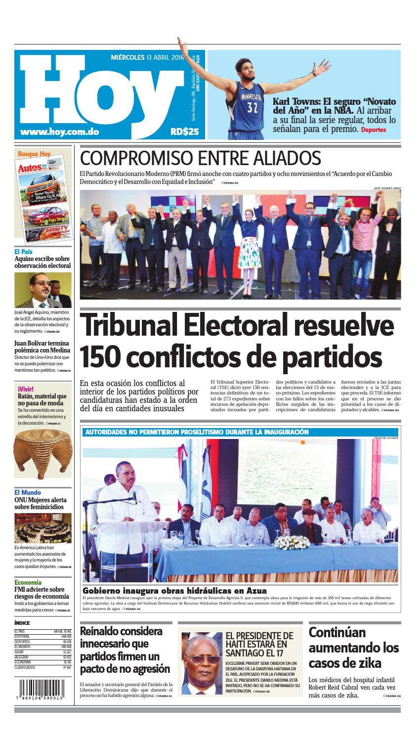 superior quality aae60 ebfdb Periódico 13 de abril, 2016 by Periodico Hoy - issuu